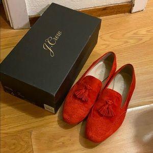 J.crew red loafer
